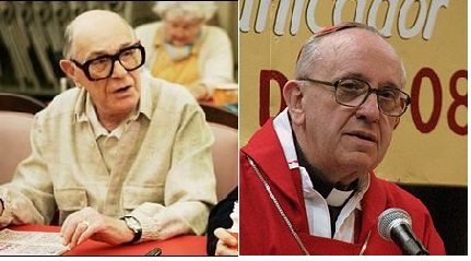 Spot the Difference: Nat David (Shelley Berman) and Francis I (Jorge Bergoglio)